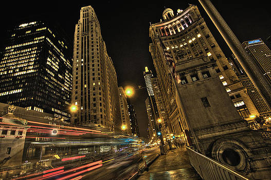 Southbound on Michigan Ave by Tom Blakely