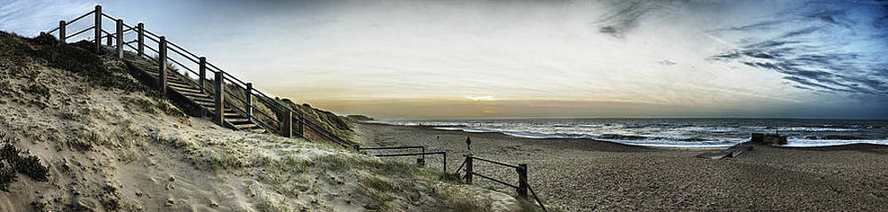 Southbourne Beach Panorama by Adrian Brockwell