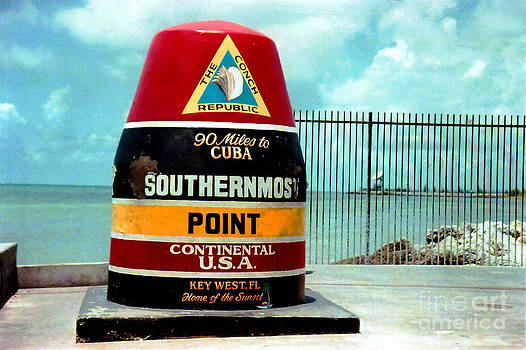 Susanne Van Hulst - Southern most point in Key West Florida