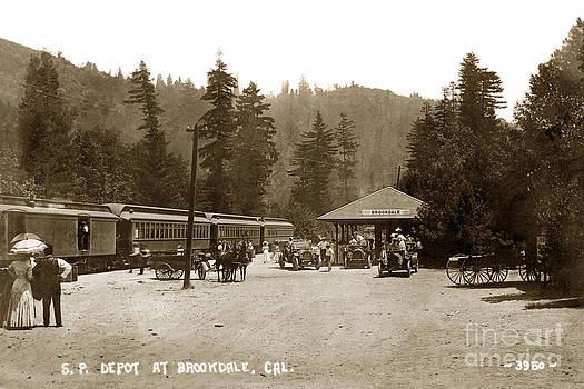 California Views Mr Pat Hathaway Archives - Southern Pacific Depot at Brookdale Santa Cruz Co. Cal. Circa 1910