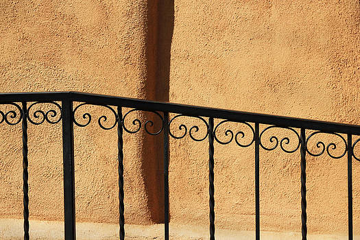 Southwest Adobe Wall and Fence by Donna Haggerty