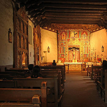 Southwestern Mission in Chimayo New Mexico by Julie Magers Soulen