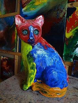 Space Cat Image From Planet Suys by Jean-francois Suys
