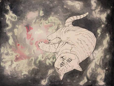 Space Cat - Lagoon Nebula by Theresa Hentz