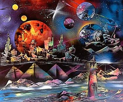 Space harbour by Evaldo Art