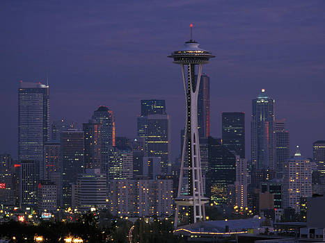 John Clark - Space Needle At Twilight