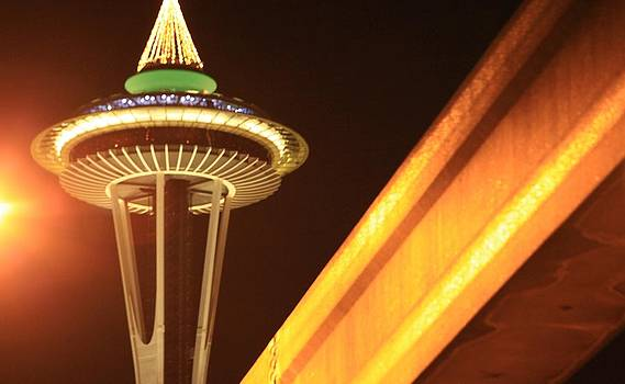 Space Needle Monorail  by Donald Torgerson