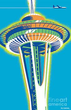 Space Needle Pop Art by Jim Zahniser