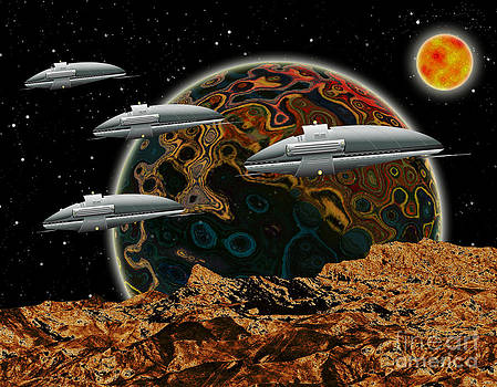 Space Ships by Piero Lucia