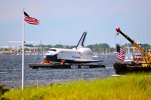 Space Shuttle Enterprise Escorted Through Jamaica Bay by Maureen E Ritter