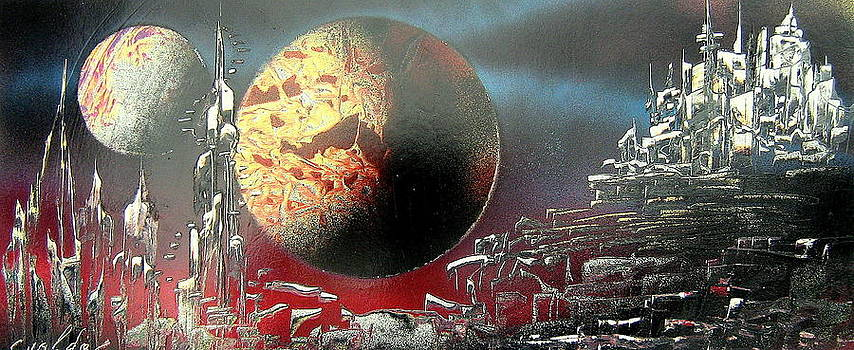 Space Town by Evaldo Art