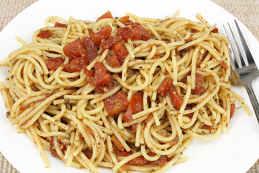 Spaghetti with Red Tomatoes by Lee Serenethos