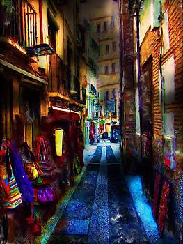 Spain Shopping Alley by Cary Shapiro