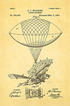 Ian Monk - Spalding Flying Machine Patent Art 1889