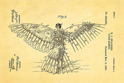 Ian Monk - Spalding Flying Machine Patent Art  3 1889