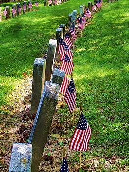 Spanish American War Graves at attention by Mark Malitz