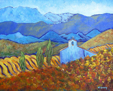 Spanish Iglesia in the autumn by Kathryn Barry