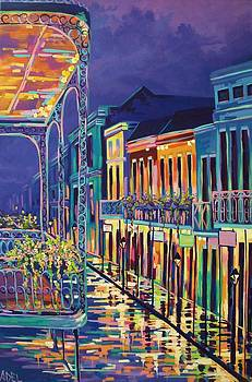 Sparkling Night on Bourbon Street by Elaine Adel Cummins