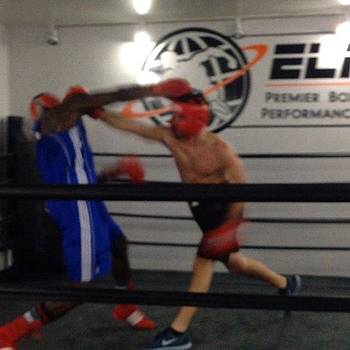 Sparring W/ Leroy At Iron by Ben Tesler