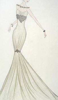 Speckled Olive Gown by Christine Corretti