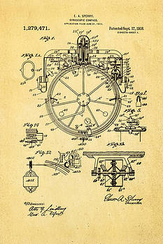 Ian Monk - Sperry Gyroscopic Compass Patent Art 1918