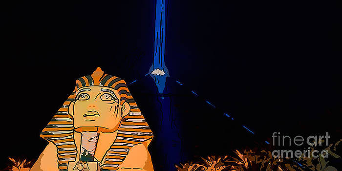 Ian Monk - Sphinx and Luxor Hotel Beam Las Vegas - Pop Art Style - Panorami