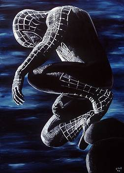 Spiderman In The Black by Leeann Stumpf