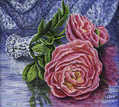 Spilled Peonies by Gail Darnell