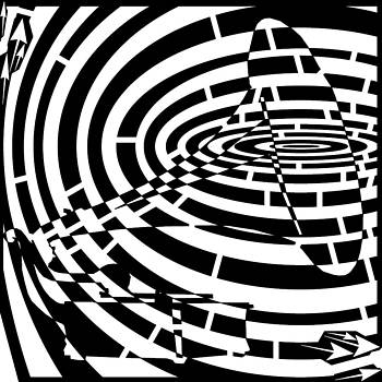 Spin Art Phonographic Maze  by Yonatan Frimer Maze Artist