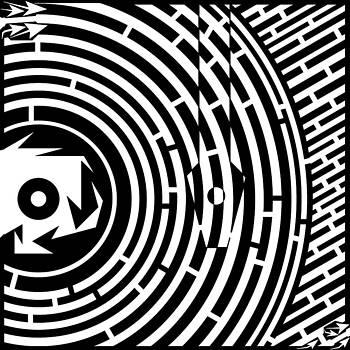 Spin Art Record Player Maze  by Yonatan Frimer Maze Artist