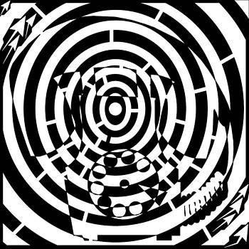 Spin Art Rotary Phone Maze  by Yonatan Frimer Maze Artist