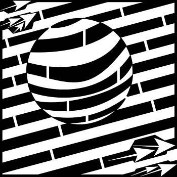 Spin Ball In The Air Maze  by Yonatan Frimer Maze Artist