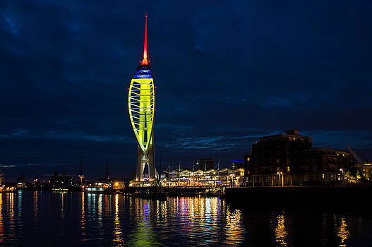 Spinnaker Tower at night by Trevor Wintle