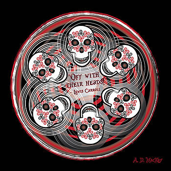 Spinning Celtic Skulls by Celtic Artist Angela Dawn MacKay