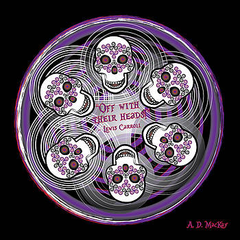 Celtic Artist Angela Dawn MacKay - Spinning Celtic Skulls in Purple
