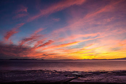 Spiral Jetty Sunset by Dean Chytraus