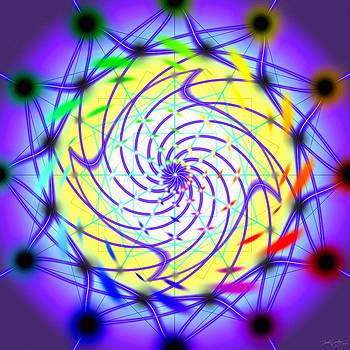 Spiral Light Hexagon by Derek Gedney