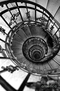 Descends stairs in old house  by Remioni Art