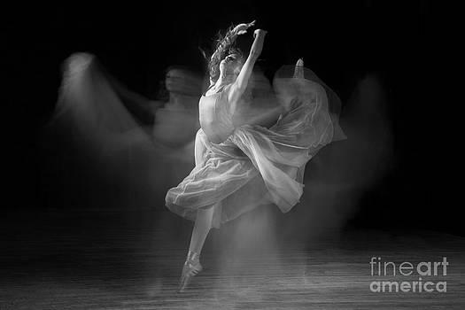Spirit Dance in Black and White by Cindy Singleton