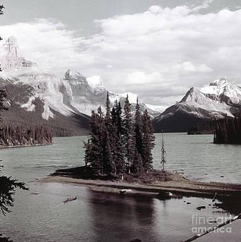 Linda Rae Cuthbertson - Spirit Island Jasper National Park Canada Vintage Photo