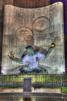 Spirit Of Detroit In Tiger Jersey Detroit MI by A And N Art