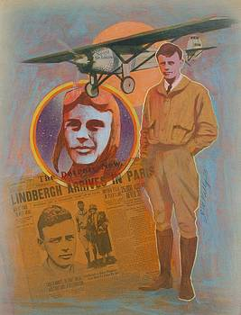 Lindbergh, Spirit of St. Louis by J W Kelly