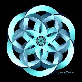 Spirit of Water 1 - Blue by David Voutsinas