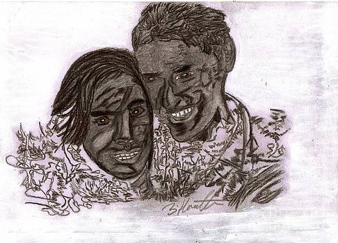 Spirit World Art  Couple In Love by Sylvia Howarth