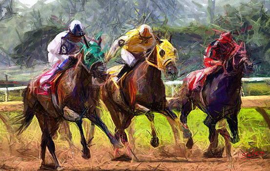 Spirited Sprint by Francisco Sanchez Salas
