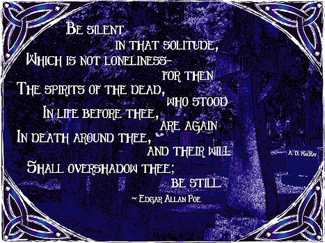 Celtic Artist Angela Dawn MacKay - Spirits of the Dead in Violet