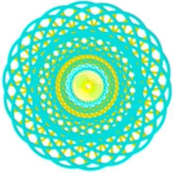 Mary Clanahan - Spirograph Art Aqua Blue Basket