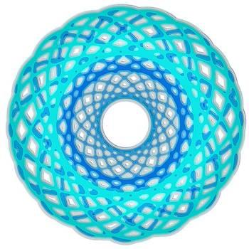 Mary Clanahan - Spirograph Art Blue Basket