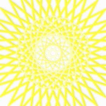 Mary Clanahan - Spirograph Art Yellow Star