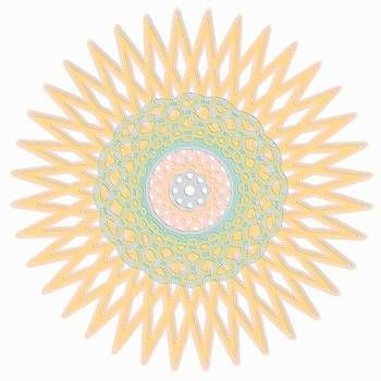 Mary Clanahan - Spirograph Star Graphic Art